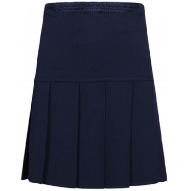 Navy blue Girls Fan Pleat Skirt